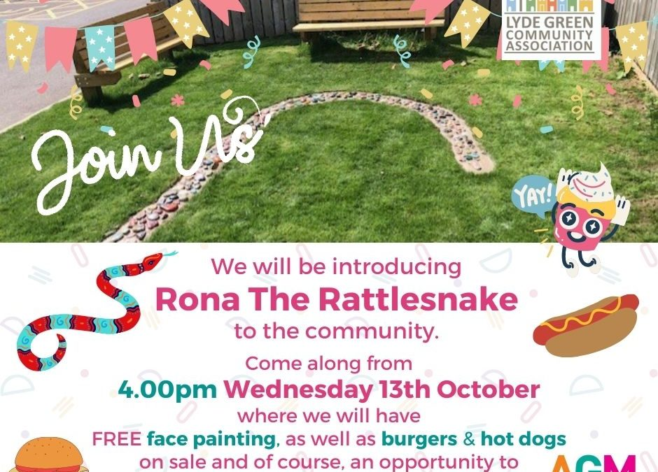 Join us at our 'Rona the Rattlesnake Event' followed by our AGM